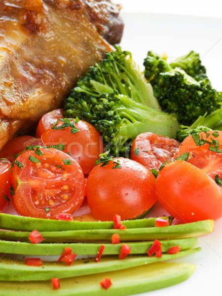 Turchia gamba verdura poco profondo Foto d'archivio © AGfoto