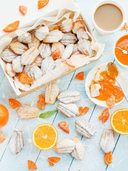 Frans dessert cookies gedroogd sinaasappelen ondiep Stockfoto © AGfoto