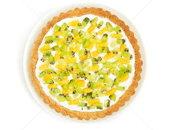 プレート 自家製 食品 フルーツ 緑 ストックフォト © AGfoto