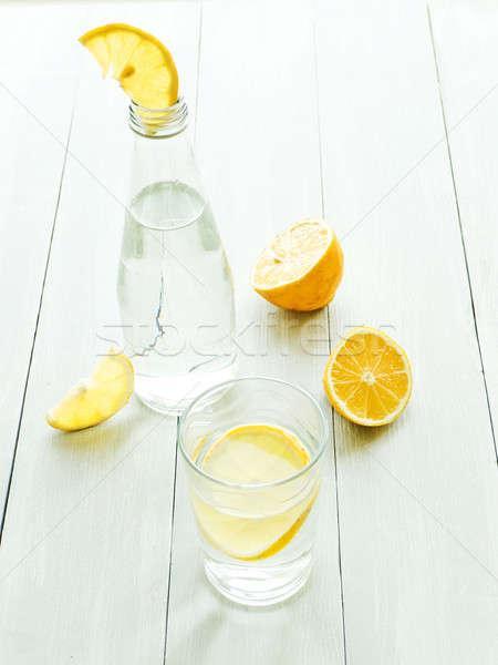 минеральная вода лимона стекла мелкий продовольствие Сток-фото © AGfoto