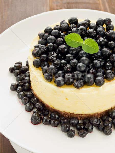 Stock photo: Lemon cheesecake