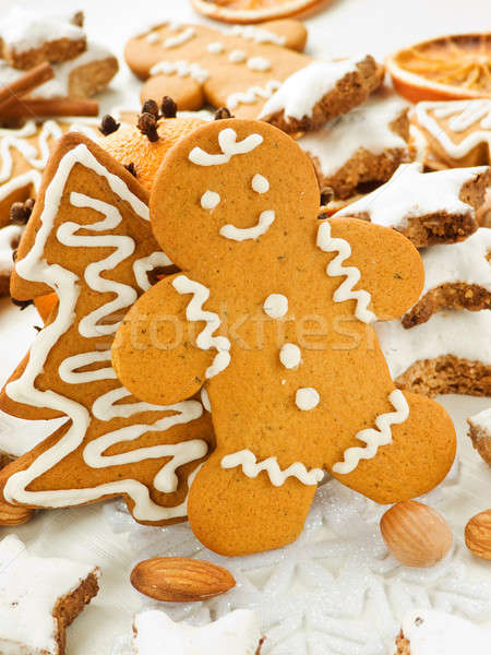 Gingerbread cookies Stock photo © AGfoto