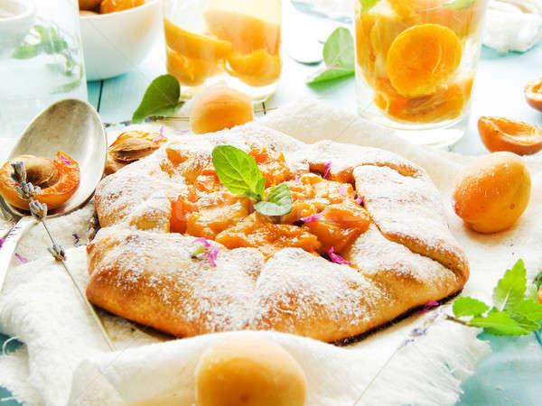 Fresh apricot pie Stock photo © AGfoto