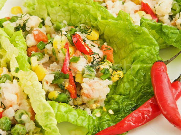 Rice with vegetables Stock photo © AGfoto