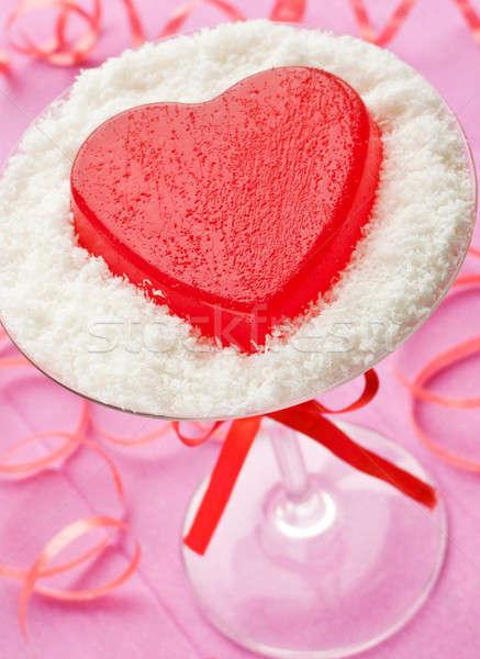 Dessert valentijnsdag ondiep papier glas Stockfoto © AGfoto