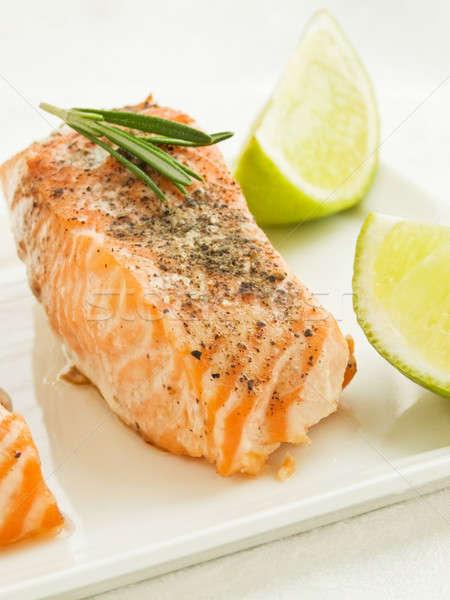 Baked salmon Stock photo © AGfoto