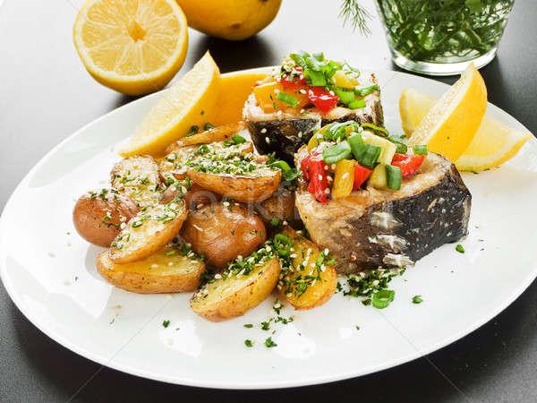 Jantar legumes raso Foto stock © AGfoto