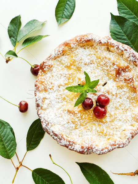Stock photo: Sweet cherry pie