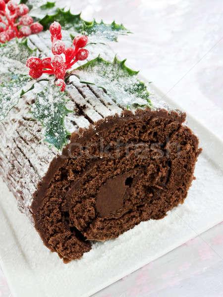 Yule log Stock photo © AGfoto