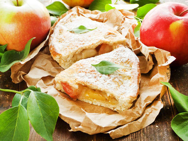 Apple pie slices Stock photo © AGfoto