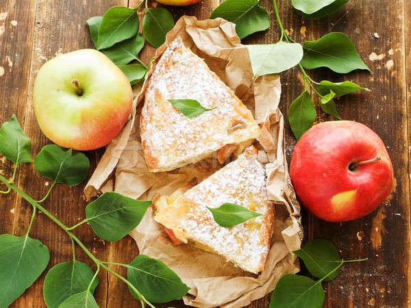 Apple pie slices Stock photo © AGfoto