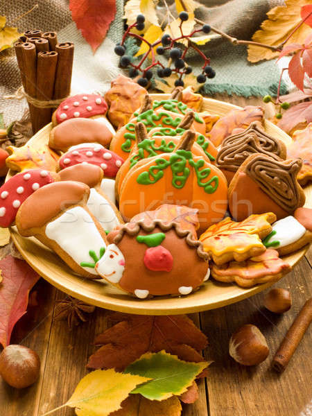 Stock photo: Autumn gingerbread cookies