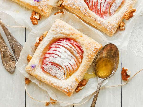 Sweet apple puffs Stock photo © AGfoto