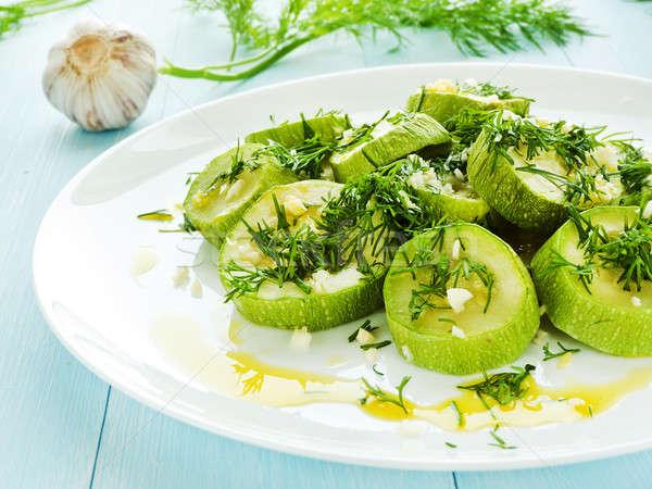 Steamed zucchini Stock photo © AGfoto