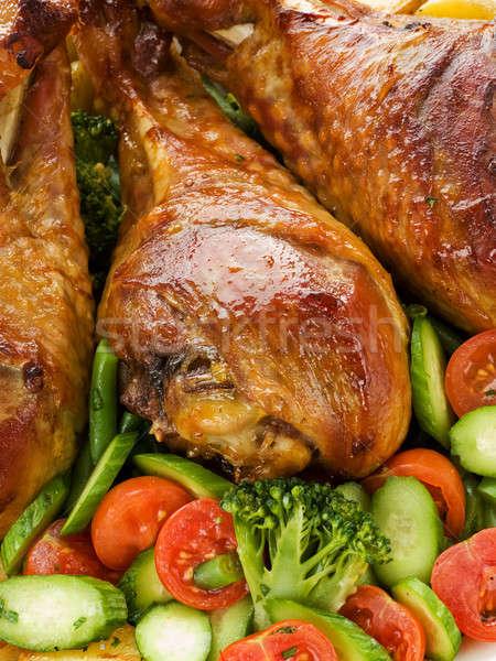 Pörkölt Törökország lábak zöldségek sekély mélységélesség Stock fotó © AGfoto
