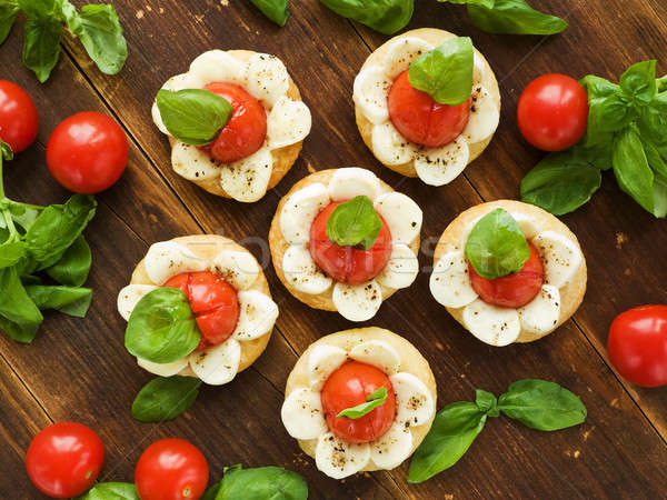 Puff-pizzas Stock photo © AGfoto