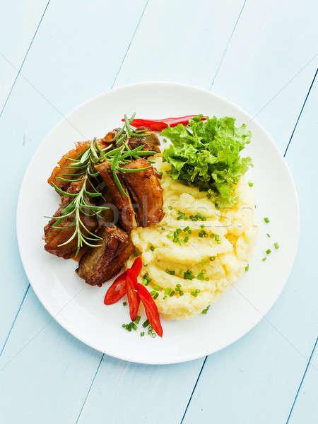 Pork ribbs with veggies Stock photo © AGfoto