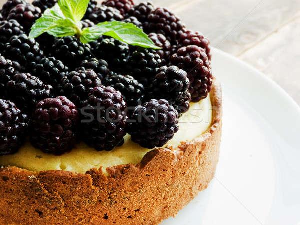 Fresco bolo de queijo de raso Foto stock © AGfoto