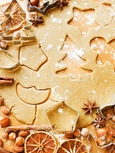 Christmas baking background Stock photo © AGfoto