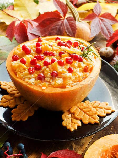 Tatlı kabak yemek sütlaç karpuzu sığ Stok fotoğraf © AGfoto