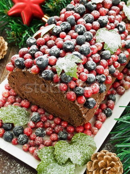 Yule log Stock photo © AGfoto