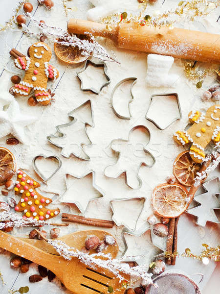 Stock photo: Christmas baking background