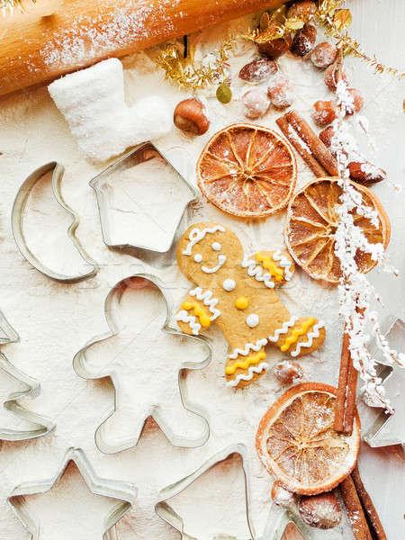 クリスマス クッキー スパイス 背景 金属 ストックフォト © AGfoto