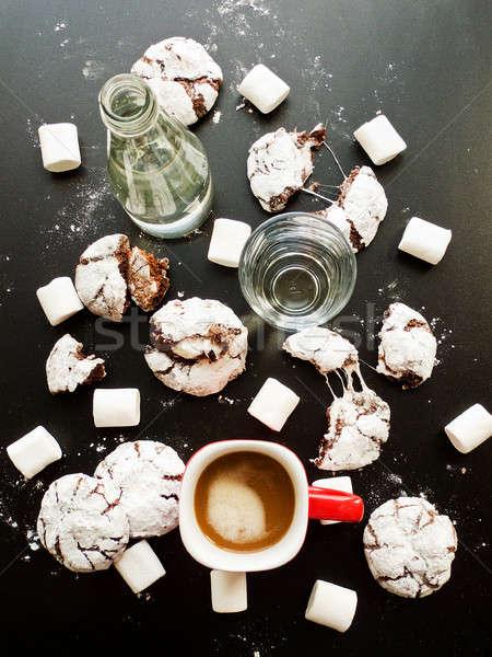Sweet chocolate brownies Stock photo © AGfoto