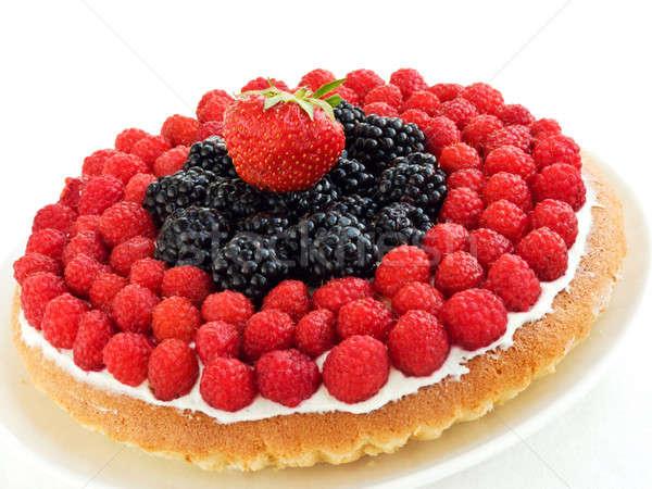 Crostata piatto fatto in casa poco profondo alimentare Foto d'archivio © AGfoto
