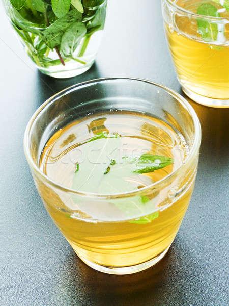 свежие зеленый чай мята очки мелкий Сток-фото © AGfoto