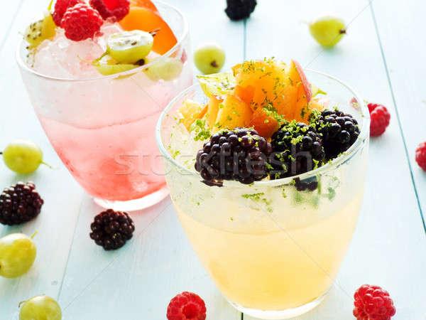Bril japans dessert ondiep voedsel Stockfoto © AGfoto