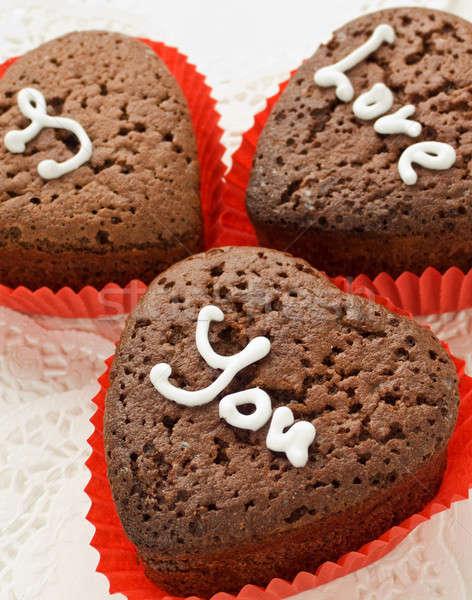 çikolata sevgililer günü sığ kâğıt Stok fotoğraf © AGfoto