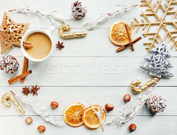 édes tél ital csésze fűszer sekély Stock fotó © AGfoto