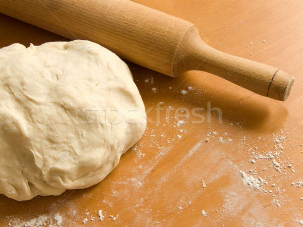 Dough and rolling pin Stock photo © AGfoto