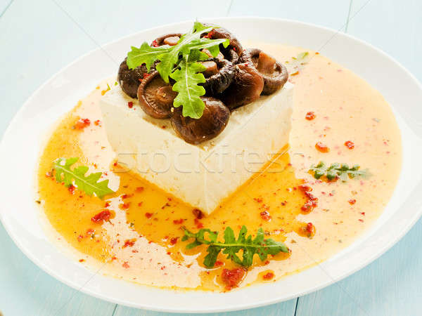 Tofu with shiitake Stock photo © AGfoto