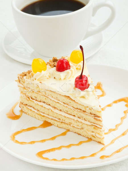 Cream cake Stock photo © AGfoto