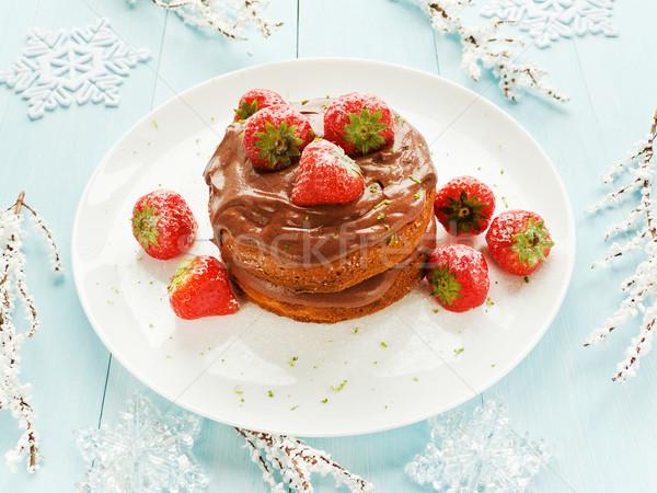 Christmas cake Stock photo © AGfoto