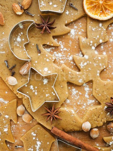 クリスマス クッキー スパイス ナッツ 男 ストックフォト © AGfoto