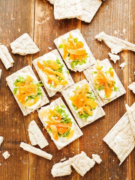 Saudável pão lanches pequeno pão integral Foto stock © AGfoto