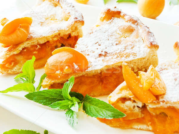 Sweet apricot pie Stock photo © AGfoto