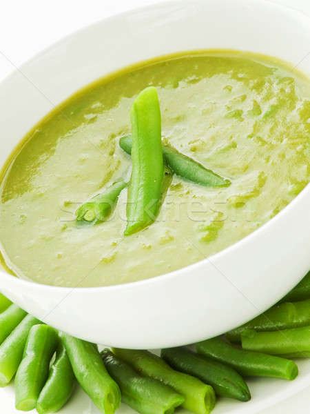 Sopa tazón superficial alimentos Foto stock © AGfoto