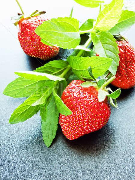 Strawberry and mint Stock photo © AGfoto