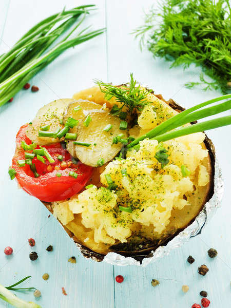 Baked potato Stock photo © AGfoto