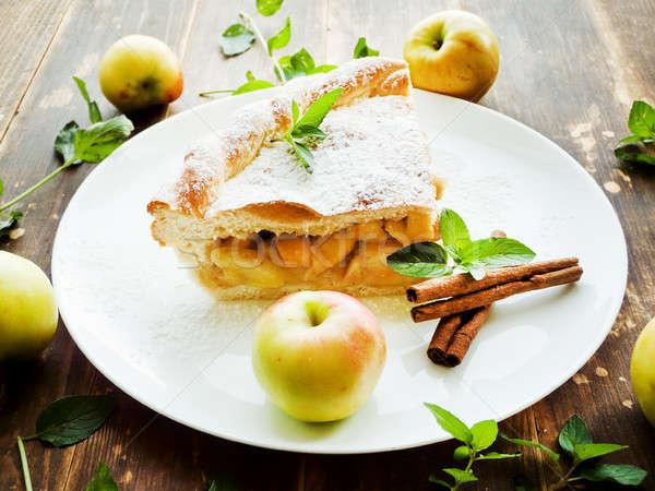 Sweet apple pie Stock photo © AGfoto