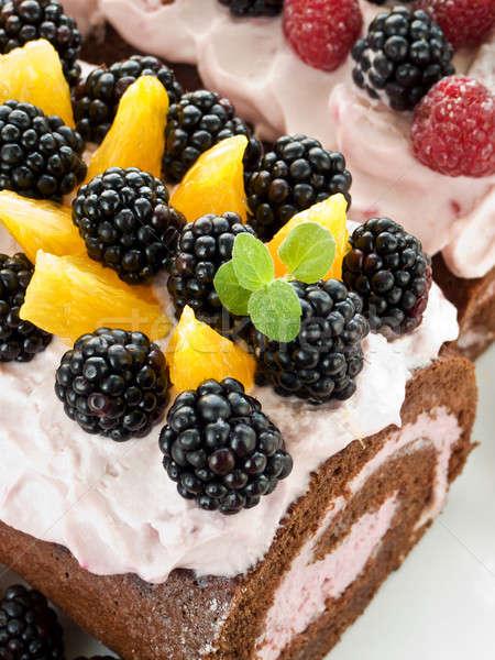 Berry roulades Stock photo © AGfoto