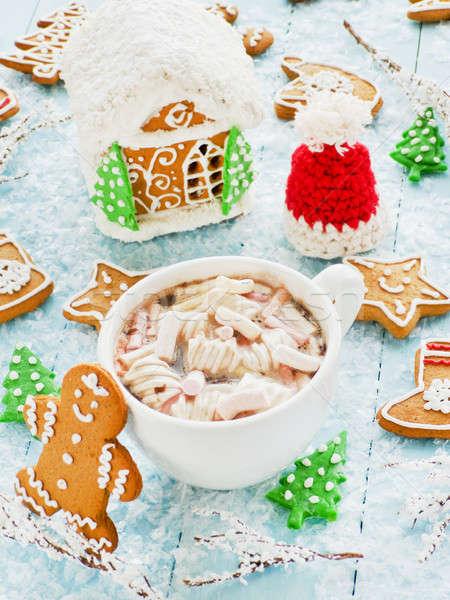 Cocoa with marshmallows Stock photo © AGfoto