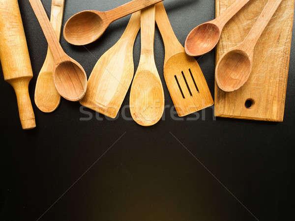 Kitchen utensil background Stock photo © AGfoto