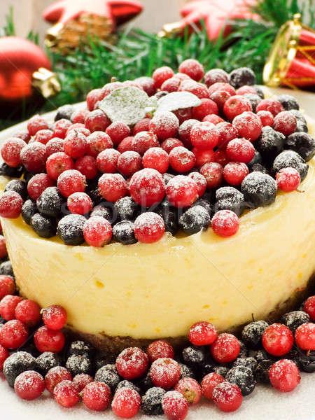 レモン チーズケーキ 冬 浅い ケーキ ストックフォト © AGfoto