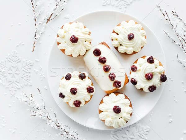 Christmas dessert Stock photo © AGfoto