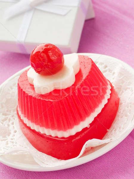 Dessert Gelee seicht Papier Stock foto © AGfoto
